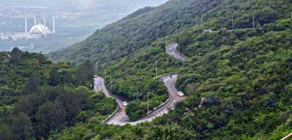 Twisty, curvy route to Pir Sohawa